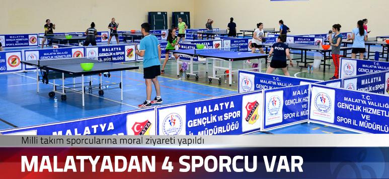 Malatya'da Masa Tenisi Milli takımına moral ziyareti